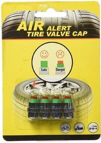 S4D Tyre Pressure Gauge Monitor Indicator Cap Sensor (Set of 4)