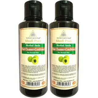 Khadi Pure Herbal Amla Shampoo + Conditioner - 210ml (Set of 2)
