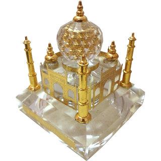 24K GOLD PLATED CRYSTAL ILLUMINATED TAJ MAHAL (FOUR COLOUR BATTERY OPERATED LIGHT)