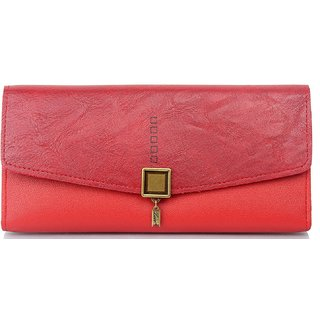 Mammon Women's PU Clutch(KA007-BRed)