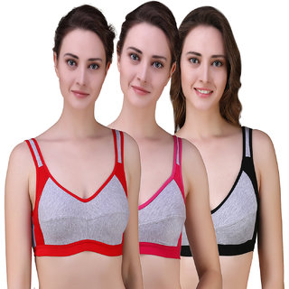 e520817b8 Buy Beunew Women s Full Coverage High Impact Support Wirefree Workout  Sports Bra Pack of 3 Beunew-11-P3 Multicolor Online - Get 71% Off