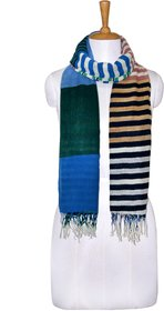 Knot Me Patchwork scarf-Blue