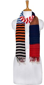 Knot Me Patchwork scarf-Red