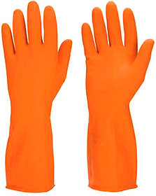 4 Pair,Household Large Washing Cleaning Kitchen Hand Rubber Gloves for All Cleaning