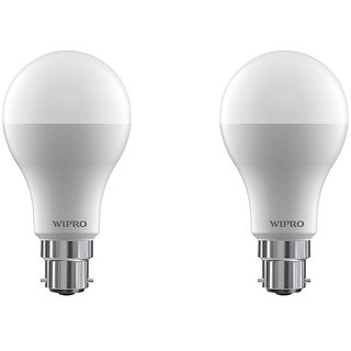 Wipro 7 W Led 6500K Cool Day Light Bulb (White Pack Of 2)