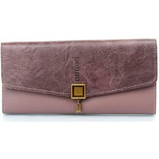 Mammon Women's Premium Clutch Wallet (KA007-DPurple)