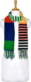 Knot Me Patchwork scarf-Green