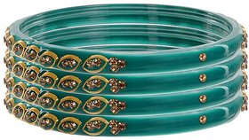 JP Bangles Glass Bangle set for Women-Set of 4(Karishma)