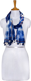 Knot Me Blue tie and dye design scarf