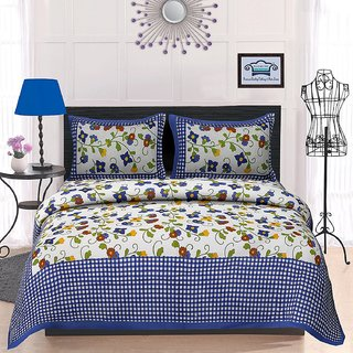 38fe28d8526 Buy UniqChoice 100% Cotton traditional Printed King Size Double bedsheet  With 2 Pillow Cover Online - Get 79% Off