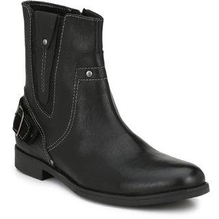 Delize Black Formal Boots For Mens