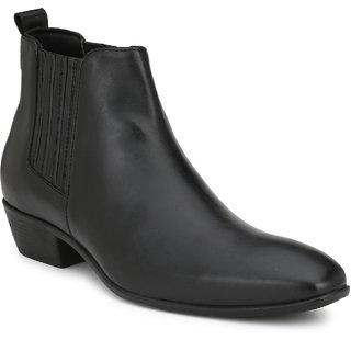 Delize Black Formal Slip On Shoes For Mens