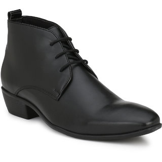 Delize Black Lac Up Shoes For Mens