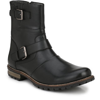 Delize Black Formal Boots For Mens