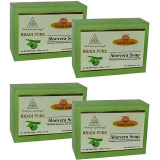 Khadi Pure Herbal Aloevera Soap - 125g (Set of 4)