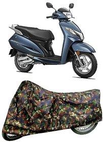 De AutoCare Premium Quality Army/ Junglee Matty Two Wheeler Scooty Body Cover for Honda Activa 4G