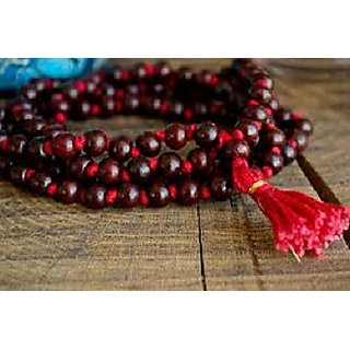 Sobhagya Laal Red Color Sandalwood Scented Pooja Jaap Mala 7mm