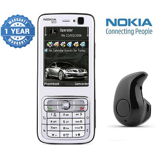Nokia N73/ Good Condition/ Certified Pre Owned (1 Year Warranty) with Mini Bluetooth