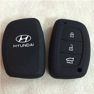 Silicone Key Cover for Hyundai Creta, i20 Elite / Active, Grand i10, New Verna, Xcent  (For Push Button Start Only)