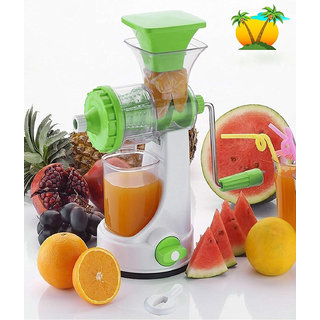 Juicer Mixer Grinder Hand Juicer For Fruits And Vegetable With Steel Handle And Juice Collector (Assorted Colours)