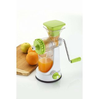 deals e Unique Juicer Mixer Grinder Hand Juicer For Fruits Vegetable With Steel Handle And Juice Collector(Multi-Color)