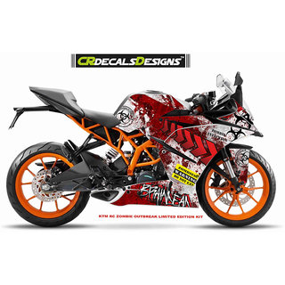 KTM RC ZOMBIE SERIES Edition Sticker Kit (RC 125/200/390)