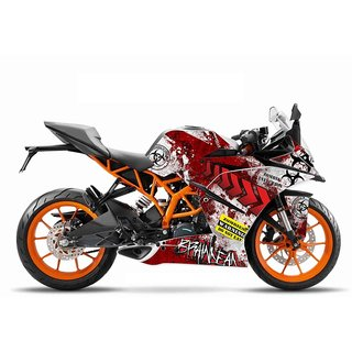 CR Decals KTM Rc Zombie Series Edition Sticker Kit (Rc 125/200/390) for Bike - 10 inches(25.4 cm)
