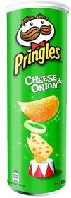 Pringles Potato Chips, Sour Cream and Onion, 165g
