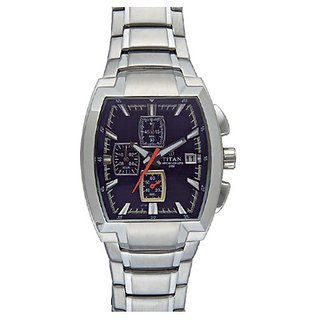 259a6778fb Buy Titan Octane Chronograph Black Dial Mens Watch - NC9208SM02 ...
