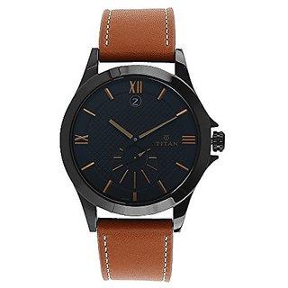 Titan Smartsteel Analog Black Dial Mens Watch-9323NL02