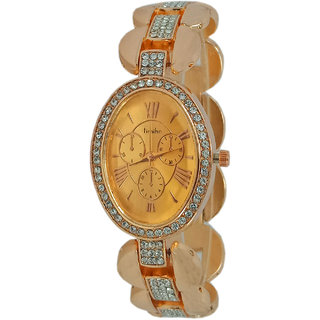 Wonder Luxury Rose Gold Metal Srap Quartz Watch For Women