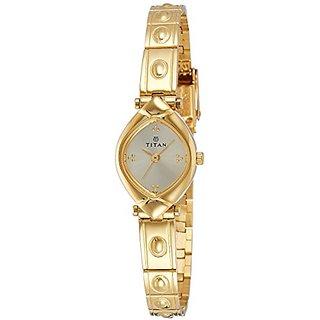 Titan Analog Champagne Dial Womens Watch-2417YM02