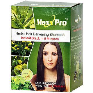 Herbal Hair Darkening Shampoo (30ml X 10 pcs.) by Maxx Pro