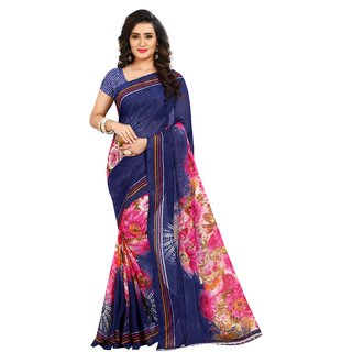 Anand Sarees Floral Fashion Faux Georgette Saree