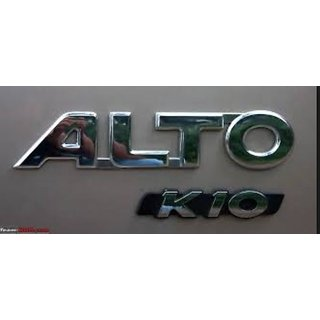 LOGO ALTO K10 MONOGRAM EMBLEM CHROME DECAL AS SHOWN IN PIC