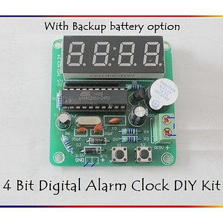 E82 DIY 4 bits Digital LED Electronic Alarm Clock Kit with AT89C2051 for  Arduino
