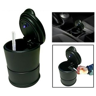 Cigarette Ashtray Ash tray Portable with Blue LED Light for Car Auto Home Office