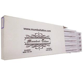MUMBAI TATTOO NEEDLES 14RL ROUND LINER, SHADER WHITOUT NIPPLE WHITE MIX BOX (PACK OF 50)