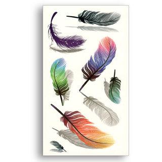 3D Temporary Tattoo Sticker Flowers Stars Cool Designs For Men Women Girls Hand Arm Waterproof Heart Design Size - 10.5x6cm