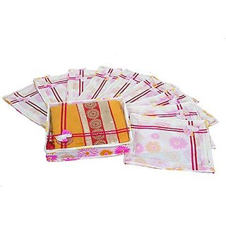 Kuber Industries™ Non Woven Designer Bow Saree Cover Set Of 10 Pcs (4 Inch Height)
