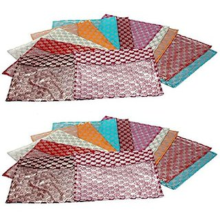 Kuber Industries Saree cover 24 Pcs combo in designer brocade, Wedding Collection Gift