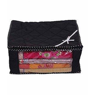 Kuber Industries™ 3 Layered Quilted Multi Saree Cover (10-15 Sarees Capacity), Wardrobe Organiser, Regular Cloth Bag