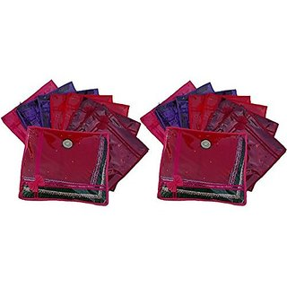 Kuber Industries™ Saree Cover 16 Pcs Combo In Non Wooven Material (Multi)