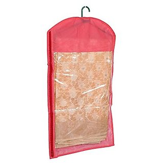 Kuber Industries™ Hanging Saree Cover In Non Woven Material Set of 6 Pcs (With Hanger)