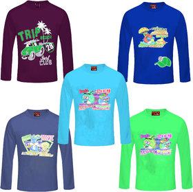 Jisha Fashion Full Sleeves Multicolor tshirt ( Pack of 5)
