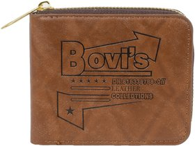 New Super Attractive Bovi's Tan wallet for Men's and Boy's