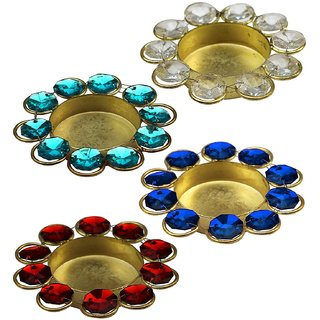 DIWALI SPECIAL CANDLE STAND /HOLDER Diwali Diya Lights Candle Holder Home Decoration Items for Gifts, Set of 4