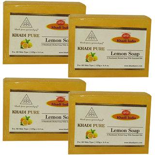 Khadi Pure Herbal Lemon Soap - 125g (Set of 4)