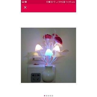 ElectoMania color changing night lamp automatic sensor night lamp mushroom shape night lamp