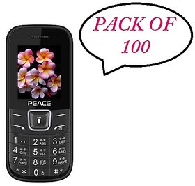 Peace FM1 PACK OF 100 ASSORTED COLOR Dual SIM 1.8 Inch